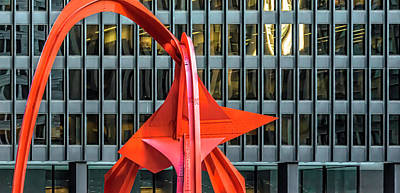 Photograph - Flamingo Calder Mies Dsc5558 by Raymond Kunst