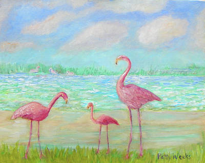 Painting - Flamingo Dreaming by Patty Weeks