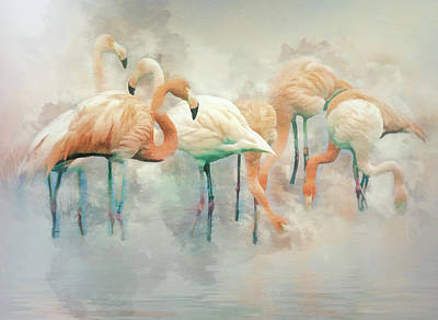 Digital Art - Flamingo Fantasy by Brian Tarr