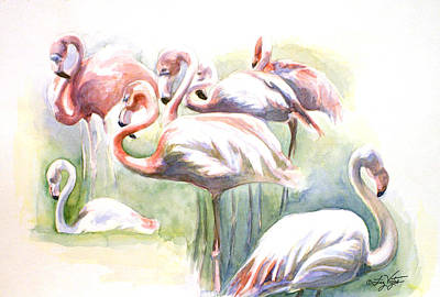 Flamingo Fiesta Art Print