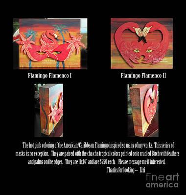 Painting - Flamingo Flamenco I And II by Lizi Beard-Ward