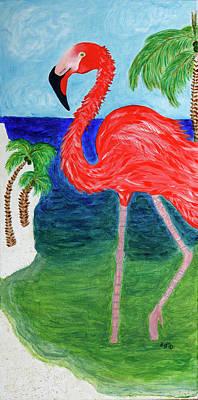 Painting - Flamingo Flash by Stephanie Agliano