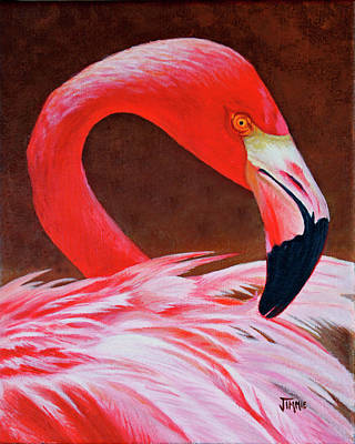 Painting - Flamingo Fluff by Jimmie Bartlett