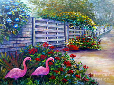 Painting - Flamingo Gardens by Lou Ann Bagnall