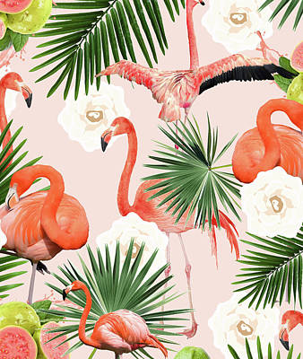 Flamingo Guava Art Print