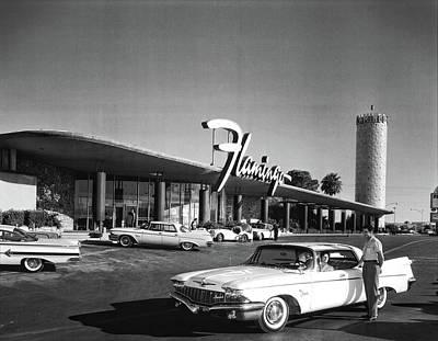 Photograph - Flamingo Hotel Opening 1950 by Doc Braham