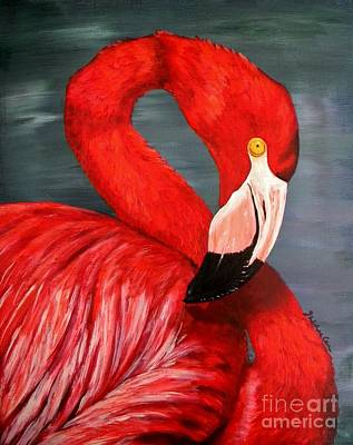 Spoonbill Painting - Flamingo by JoAnn Wheeler