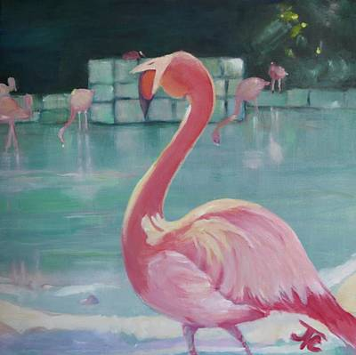 Painting - Flamingo by Julie Todd-Cundiff