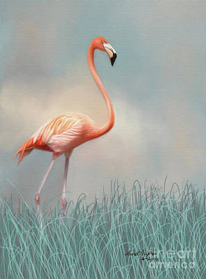 Digital Art - Flamingo by Lena Auxier