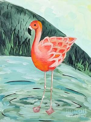 Painting - Flamingo by Maria Langgle