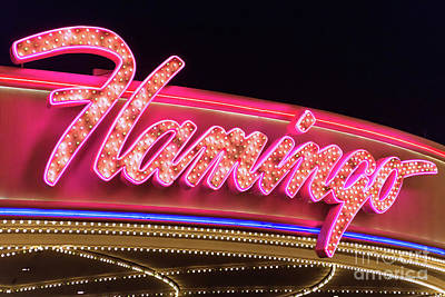 Photograph - Flamingo Neon Sign From The West by Aloha Art