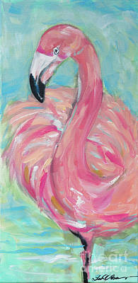 Painting - Flamingo One Leg by Linda Olsen