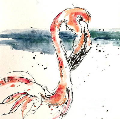 Painting - Flamingo Pool by Norma Gafford