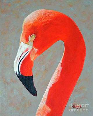 Painting - Flamingo Portrait by Jimmie Bartlett