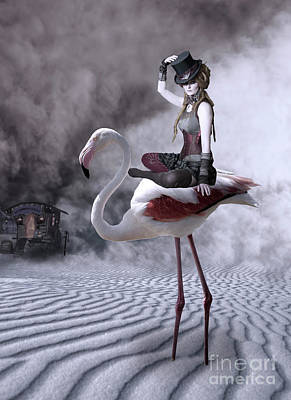 Photograph - Flamingo Rider by Juli Scalzi