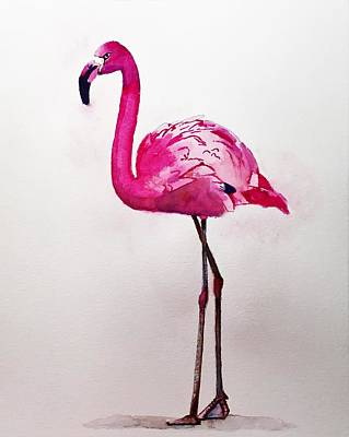 Painting - Flamingo by Rob Peters