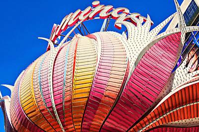 Photograph - Flamingo Sign On Las Vegas Strip by Tatiana Travelways