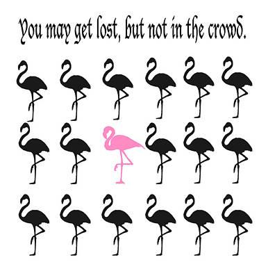Flamingos Digital Art - Flamingo Silhouettes by Art Spectrum