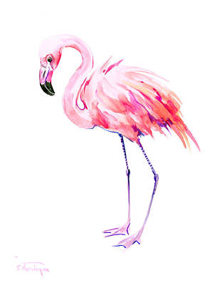 Flamingo Drawing - Flamingo by Suren Nersisyan