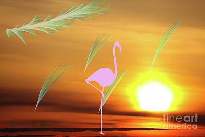 Digital Art - Flamingo Visions by Donna L Munro