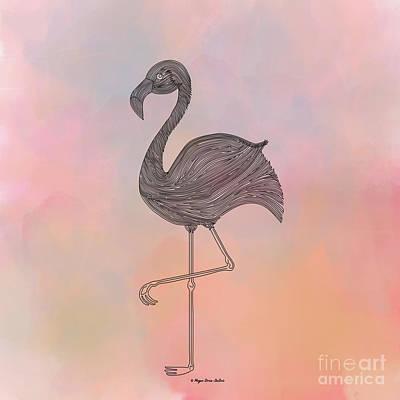 Cotton Candy Digital Art - Flamingo1 by Megan Dirsa-DuBois