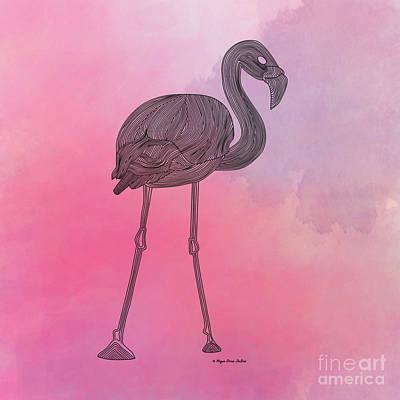 Cotton Candy Digital Art - Flamingo5 by Megan Dirsa-DuBois