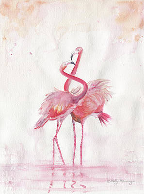 Painting - Flamingos Love by Melly Terpening