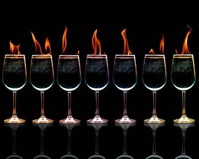 Flamming Glasses Art Print by Brian Guiler