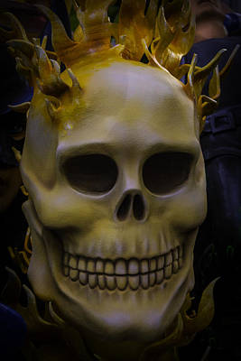 Flamming Skull Art Print by Garry Gay