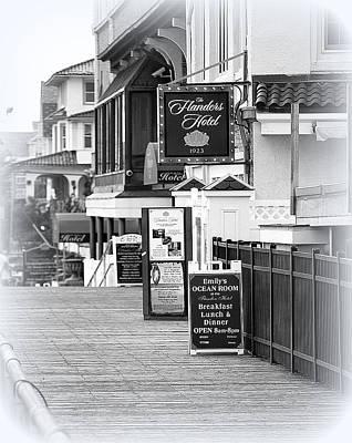 Photograph - Flander's Hotel Ocean City Nj by Mary Beth Landis