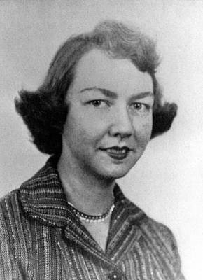 1950s Portraits Photograph - Flannery Oconnor, 1950s by Everett