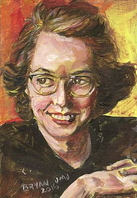 Painting - Flannery O'connor by Bryan Bustard