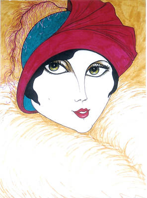 Flapper Girl 1 Art Print