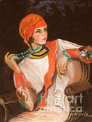 Painting - Flapper Girl by Pati Pelz