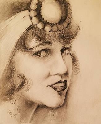 Flapper Girl Art Print by Paul Birchak