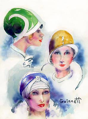 Painting - Flapper Girls by Kathleen  Gwinnett