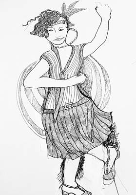 Drawing - Flapper by Rosalinde Reece