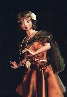 Doll Sculpture - Flapper  by Rosemary Babikan
