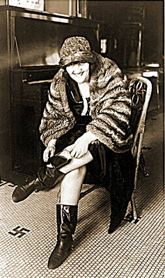 Photograph - Flapper With Boot Flask by Vintage Pix