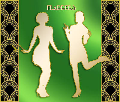 Digital Art - Flappers 3 by Chuck Staley