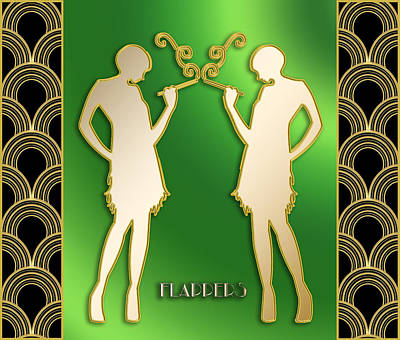 Digital Art - Flappers by Chuck Staley