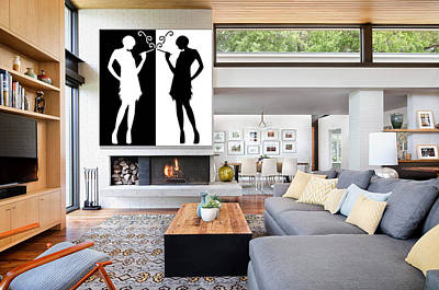 Digital Art - Flappers In Home by Chuck Staley