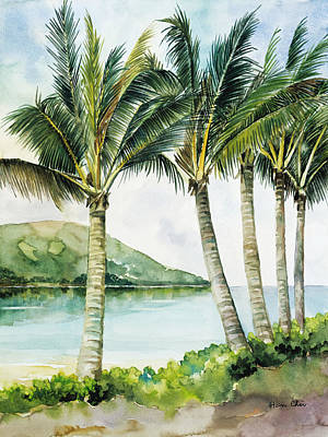 Art Medium Painting - Flapping Palm Trees by Han Choi - Printscapes