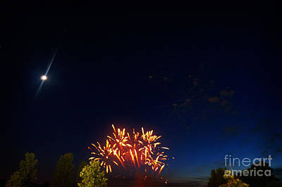 Fireworks Painting - Flares by Celestial Images