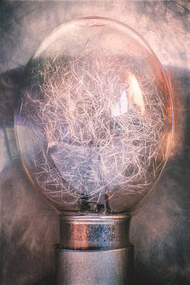 Electronic Photograph - Flash Bulb by Scott Norris