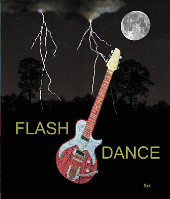Electric Mixed Media - Flash Dance by Eric Kempson