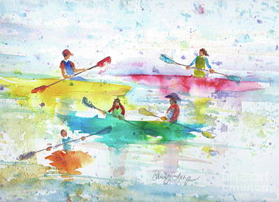 Painting - Flash Paddle by Christy Lemp