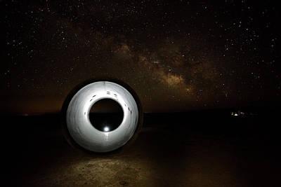 Photograph - Flash Under The Milkyway by David Andersen