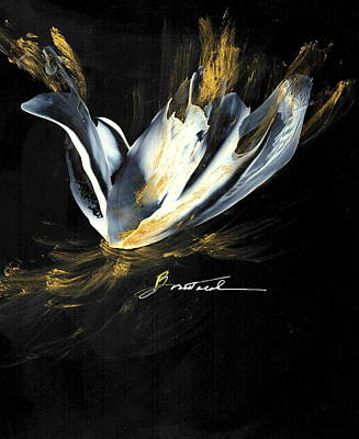 Wall Art - Painting - Flashes Of Gold by Alexis Bonavitacola
