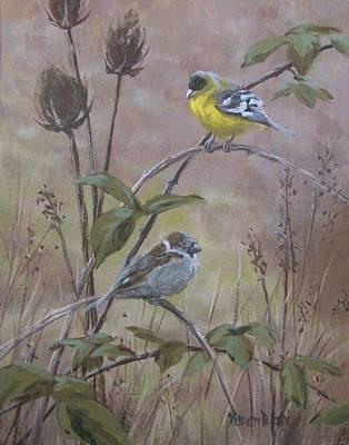 Painting - Flashy Friend by Karen Ilari